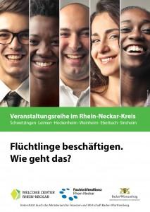 Flyer, Flüchtlinge beschäftigen, Überblick1