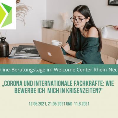 """""""Corona und internationale Fachkräfte: Wie bewerbe ich mich in Krisenzeiten?"""" Welcome Center Rhein-Neckar bietet Online-Beratungstage an"""