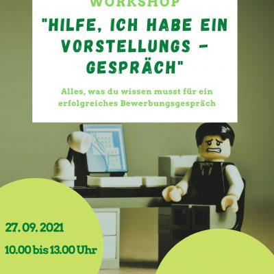 """Online-Workshop """"Hilfe, ich habe ein Vorstellungsgespräch"""""""
